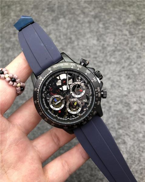 Relojes de lujo para hombres de China Relojes maestros de cuarzo VK de alta calidad para hombres Cinturón Srubber Reloj de cronografía comercial Todo el trabajo funcional