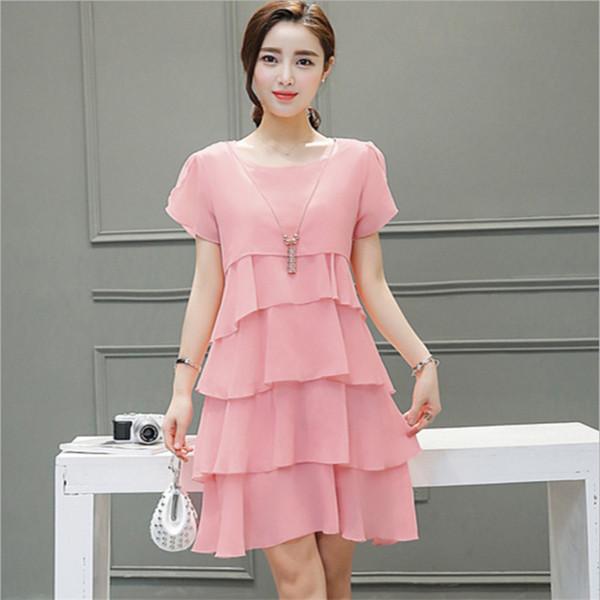 5XL 여성 비치 드레스 여성 여름 드레스 쉬폰 voile 여성 2019 여름 스타일 의류 플러스 사이즈