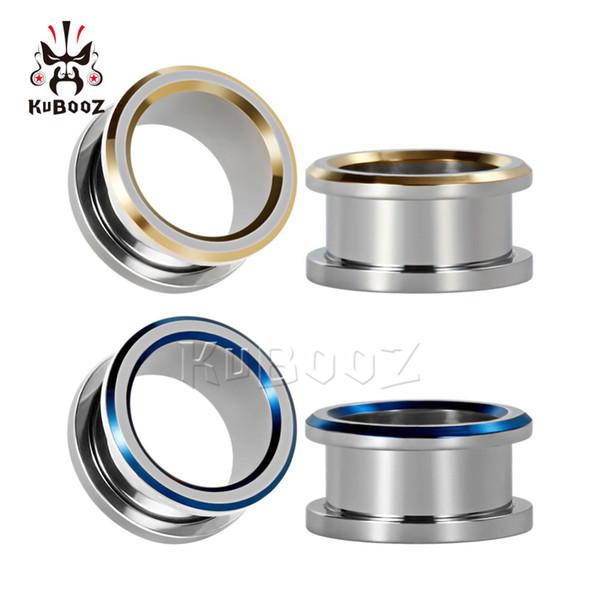 wholesale piercing electroplating screw ear tunnels piercing stainless steel ear plugs body jewelry earrings gauges wholesale