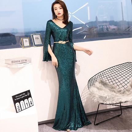 yeşil / şarap kırmızı / siyah / gümüş payet uzun denizkızı elbise kırmızı halı Rönesans Önlük kraliçe Cosplay Victoria elbise