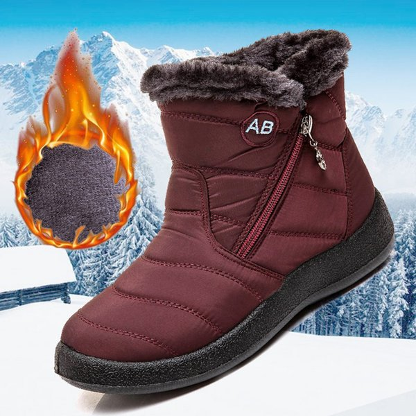 winter women boots waterproof snow boots for shoes women casual lightweight ankle botas mujer warm winter female