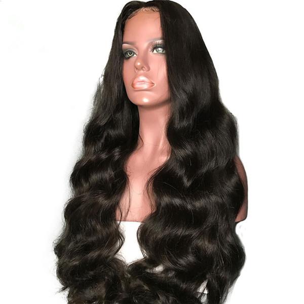 150% Density Bleached Knots Brazilian Virgin Human Hair Glueless Full Lace Wig Losse Wave For Black Woman
