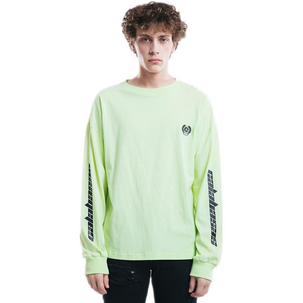 Kanye West Sweatshirt Staffel 6 Männer Baumwolle Mode Lässig Hip Hop Rapper Übergröße Grün Grau Hoodie Männliche Sweatshirts Größe S-XL