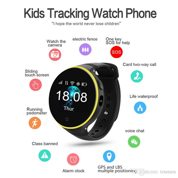 1pc ZGPAX S668A Smart Watch GPS SOS Children Kids Watch Support Wifi sim card Baby Safety Tracker for Android iOS As Christmas Gift