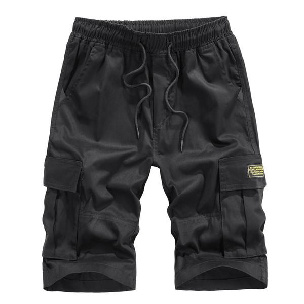 Taktik pantolon erkek Yaz Açık Havada Rahat Gevşek Saf Renk Tulum Plaj Spor Şort Pantolon erkek pantolon pantalon homme