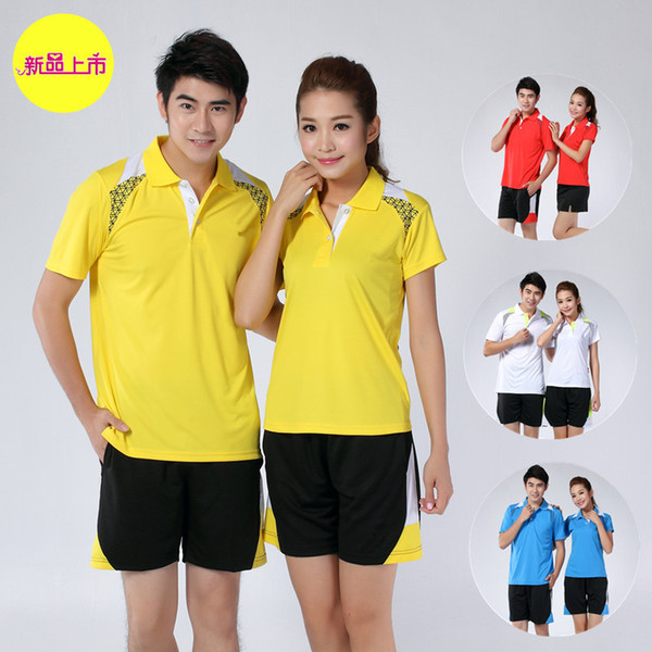 K5 Badminton Suit Sportswear for Men and Women Short Sleeve T-shirt for Leisure Running Basketball casual wear Table tennis Y-5026