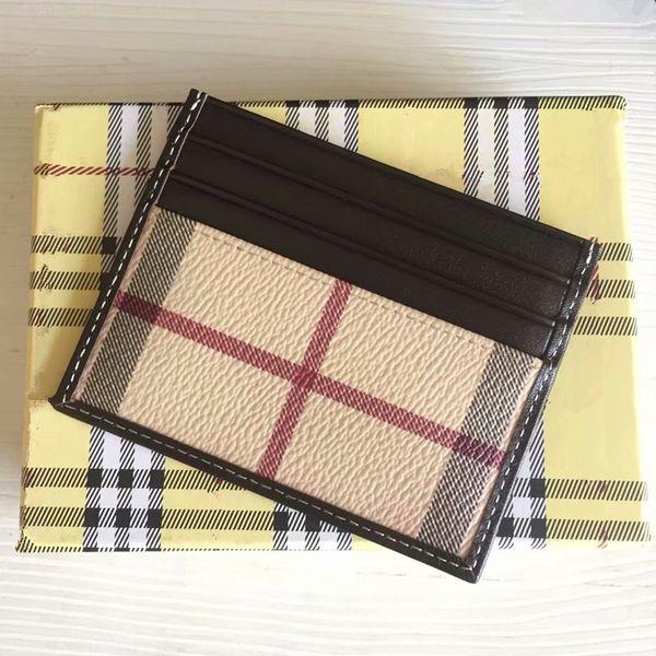 Travel Leather Bank Card Package Coin Bag Men Wallets Fashion Design Men/Women Credit Card Holder Slim Bank ID Card Case With Dust Bag Box