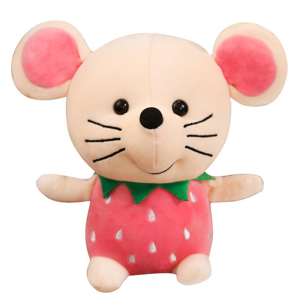 Bambola sveglia del topo della bambola dell'ananas della fragola della bambola del giocattolo della peluche della frutta di Natale piccolo regalo benvenuto per ordinare la spedizione libera