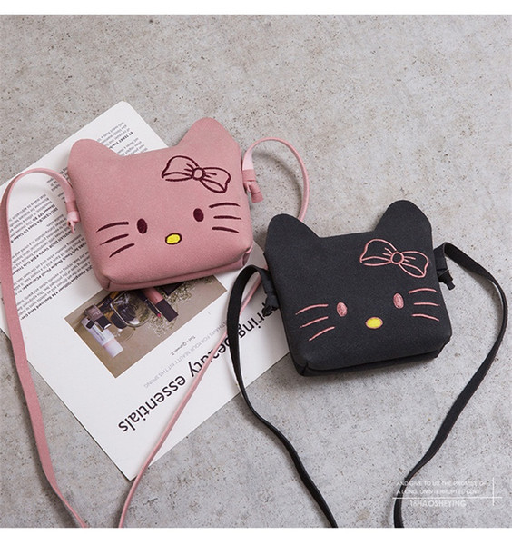 Cat Cartoon Inclined Shoulder Bag Snacks Coin Purse For Baby Child Bags 4 Colors Lovely Fashion 7 5lt D1