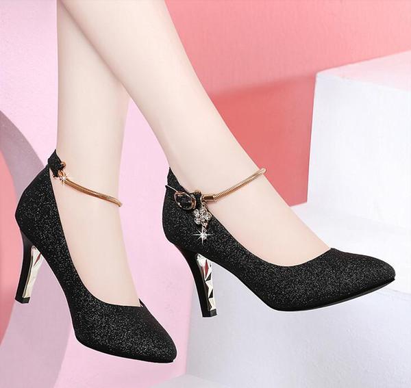 Tasarımcı lüks Kadın Marka Stiletto Pompaları Kırmızı alt Gelin Elbise Ayakkabı Altın Siyah Glitter Sığ ağız Sivri Toes Parti Düğün ayakkabı
