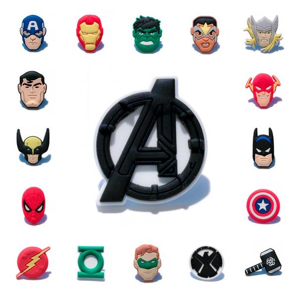 25pcs Avenger Hero Face PVC Magnets Home Decor Action Figure Fridge Magnets Avenger Logo Magnetic Sticker Kids Gift