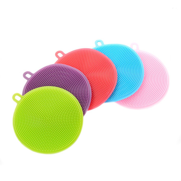 7 colors Magic Silicone Dish Bowl Cleaning Brushes Scouring Pad Pot Pan Wash Brushes Cleaner Kitchen