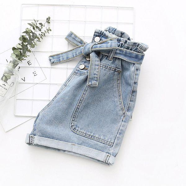 Hot ladies Denim pantalons femmes été pantalons décontractés mode nouvelle poche lâche occasionnels petit coton court Y605