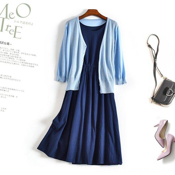 Azul marino + falda azul Cardigan