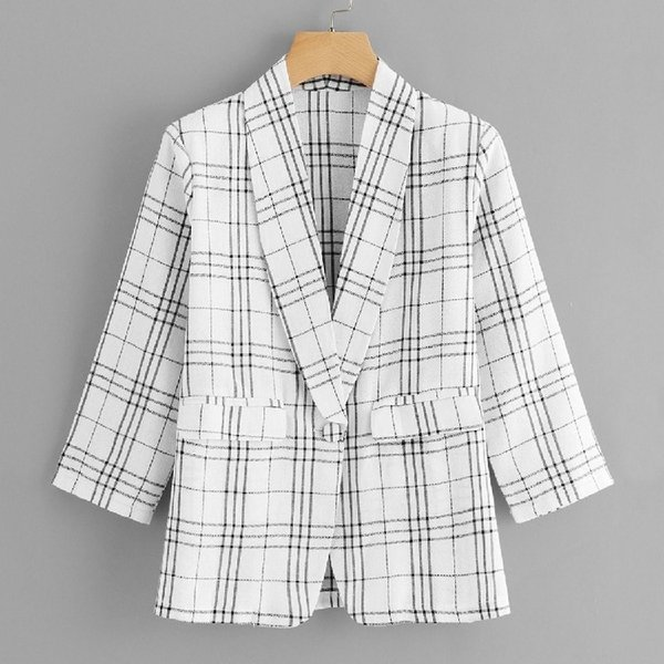 fashion2019 Season Women's Clothes Stripe Hundred And Up Loose Coat Women's Style Small Suit Long Sleevesa