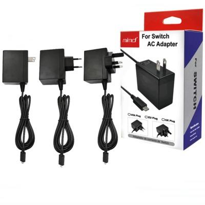 best selling Home Travel Wall AC Adapter Charger Switch Charger For Nintendo Switch NS Game Adapter 5V 2.4A US EU UK Plug USB Type C Charging Port