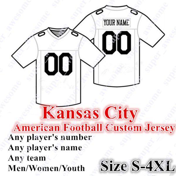 CUSTOM Kansas City Camisetas de fútbol americano 32 Mathieu 95 Jones 34 Hyde 17 Hardman 4 Thigpen Tamaño S- 4XL Mezclar orden Hombres Mujeres Juvenil cosido