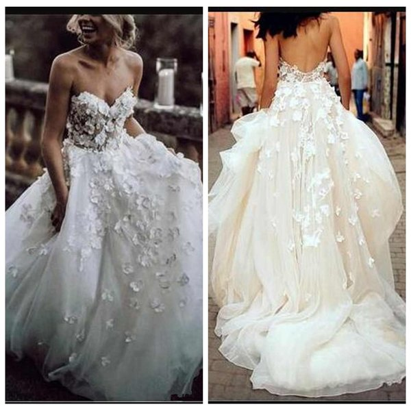 A Line Sweetheart Organza Beach Country Lace Wedding Dresses Cheap 2019 Sweetheart Drop Waist Wedding Gowns South Africa African Dresses