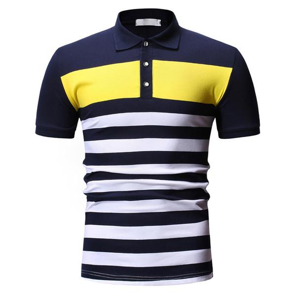 2019 New Mens Slim Fit T Shirts Short Sleeve Personality Mens Casual Slim Short Sleeve Printed Shirt Top Blouse
