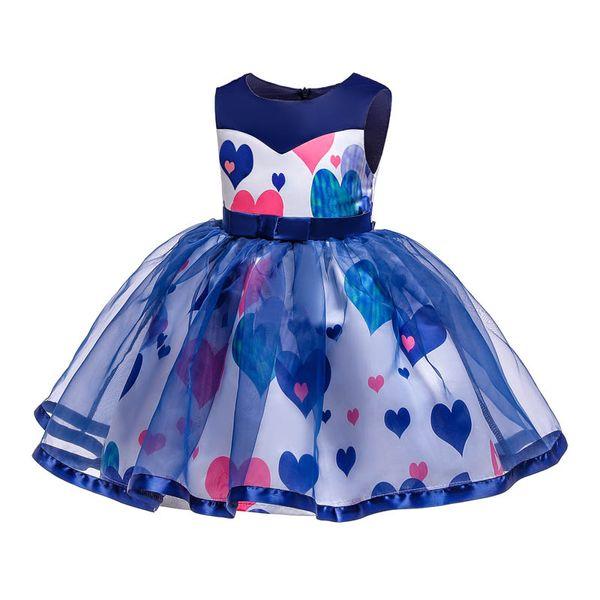 AŞK çiçek kız elbise düğün çocuklar için giysi tasarımcısı kız elbise parti çocuklar prenses elbise büyük çocuk giysileri resmi elbise perakende A7087