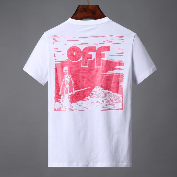 Fashion Tees For Men Hip Hop Cotton Mens off Clothing T-shirt Round Collar billionaire Man Tops Summer Short Sleeve black White shirt 0023