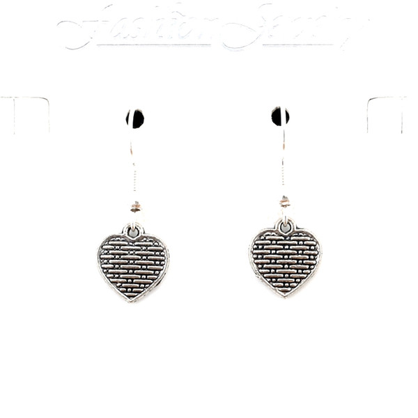 Hots sell ! 30pairs Heart Charm Earrings silver Fish Ear Hook Antique silver Chandelier DIY Jewelry 11x29mm A-545e