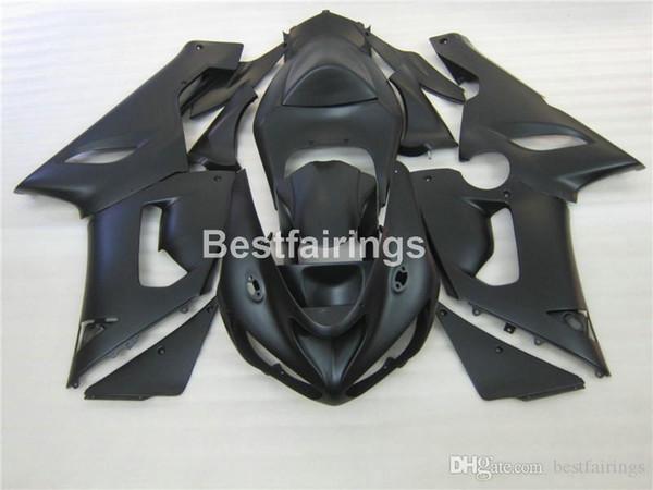 Moto parts free customize fairing kit for Kawasaki Ninja ZX-6R 636 05 06 matte black fairings set ZX6R 2005 2006 MS49