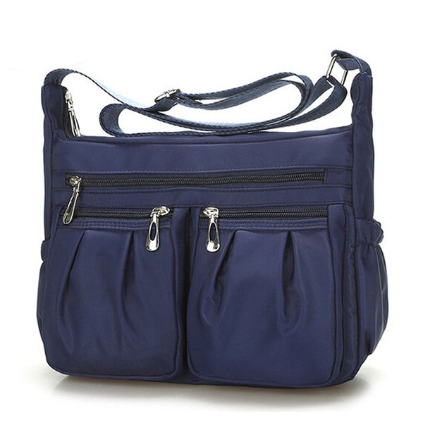 women fashion solid color zipper waterproof nylon shoulder bag crossbody bag bolsa feminina dropship new 2018 selling 1004