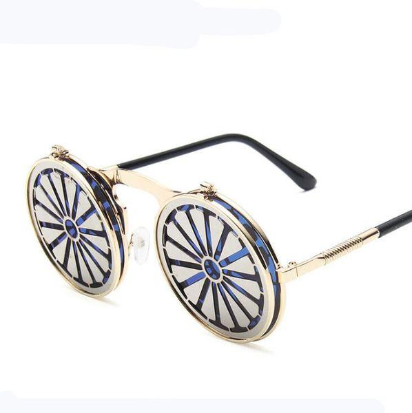Большой кадр Vintage Круглые солнцезащитные очки для женщин ретро Крупногабаритного круг ВС очков Женских черного Gradient очки Summer Shades для женщин Goggle