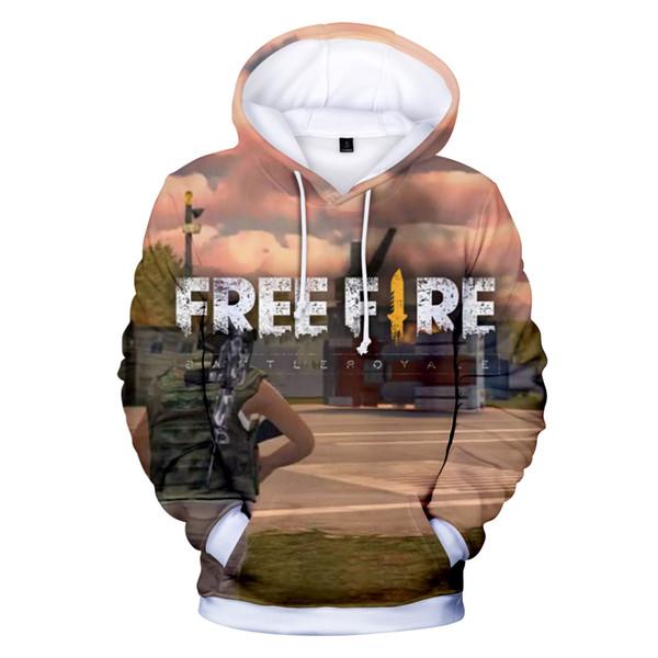BTS Free Fire 3D Harajuku Autumn Male/Female Hoodies Sweatshirts Anime Hooides Fans Hot Sale Men Hoody Print Plus Size 4XL