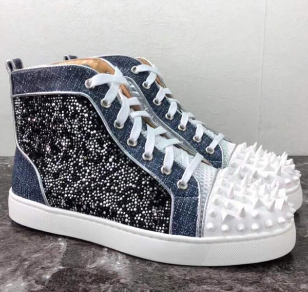 41c0938fdaf New Rantus Orlato Men's Flat Graffiti Sneakers Men Red Bottom Shoes ...