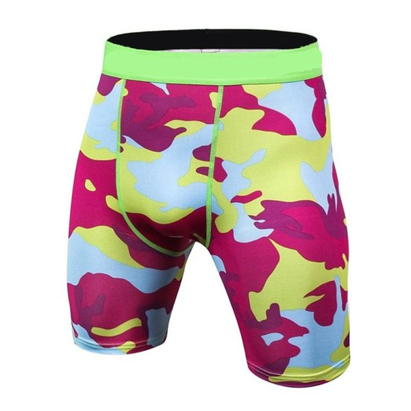 Moda Fitness Compresión Pantalones cortos Hombres Sólido de alta elasticidad Skinny Base Layer pantalones cortos Mma Crossfit culturismo hombres Shorts S-3XL