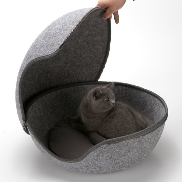 Ball Pet Cat Beds Nest Cat House Basket Pet Cave Funny Egg-Type Nest House All Season Round Kitten Hole Comfortable Warm
