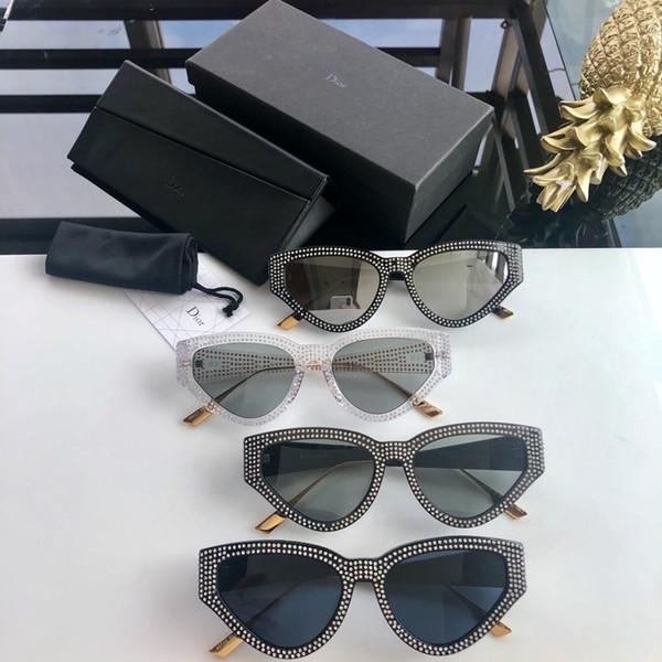 2019 kadın güneş gözlüğü elmas dolu dekoratif güneş gözlüğü şık güneş gözlüğü Moda en çok satan