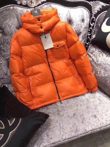 HOT New Men Casual Down Jacket Brand M 90% White Down Abrigos Hombre Outdoor Warm Feather Hombre Winter Coat outwear Chaquetas Parkas Naranja