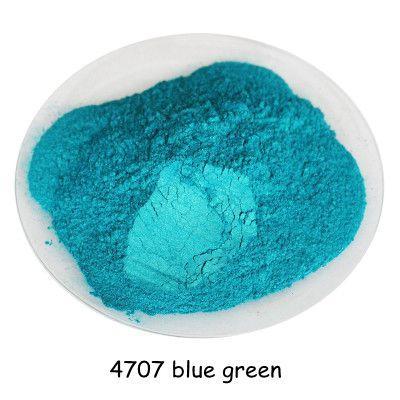 500gram bleu vert couleur poudre cosmétique perle poudre de poussière de pigment mica perle pour DIY ongles polonais et maquillage fard à paupières, rouge à lèvres