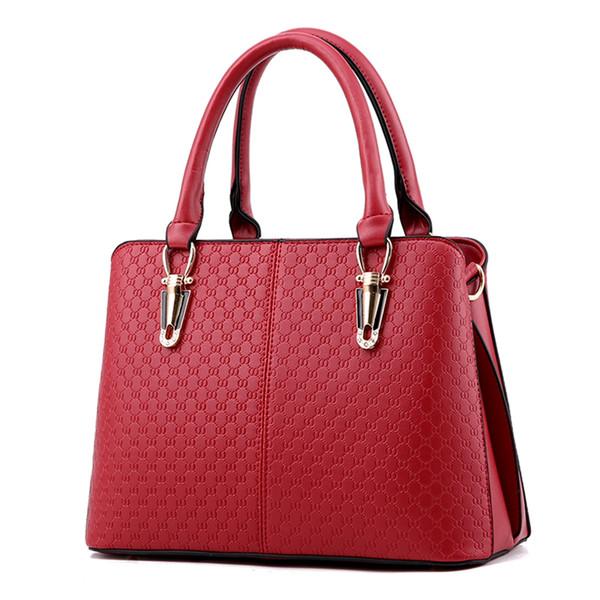 2019 nuovo arrivo moda donna borse spalla cuoio solido top-handle borse borsa messenger femminile prezzo in dollari