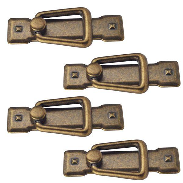 best selling 4x Vintage Kitchen Cabinet Cupboard Dresser Door Drawer Drop Ring Pull Handles Knobs Bronze