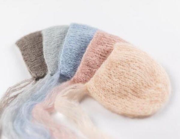 Artesanat bébé Bonnet tricoté à la main Mohair, bébé Photographie Props. Photographie prop.on baby shower