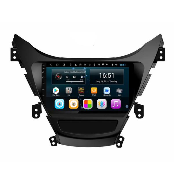 Android 9 pouces 8-core pour hyundai elantra 2012 voiture lecteur multimédia radio WIFI Bluetooth GPS navigation Wifi unité principale