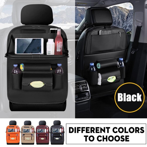 Car Seat Back Organiser Tidy Organizer Travel Storage Bag Pocket Cup Holder FV