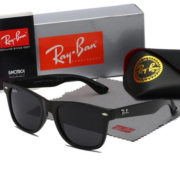 2020 Aviator Ray Güneş Gözlüğü Vintage Pilot Marka Bant UV400 Koruma Yasakları Mens Womens Erkekler Kadınlar Ben wayfarer güneş gözlük kutusu ile kutu 2140