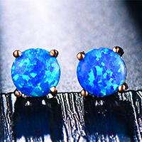 blue in rose gold