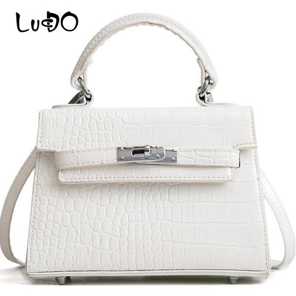 LUCDO Marke Frauen Handtaschen Aus Leder Mini Kleine Rivet Totes Tasche Designer Damen Aligator Abend Clutch Schulter Umhängetasche Sac