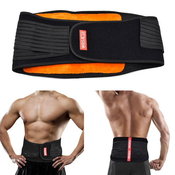 Männer Frauen Lendenwirbelsäule Taille Unterstützung Lower Back Brace Einstellbar Elstiac Taille Trimmer Gürtel Übung Gym Fitness Gürtel Trainer