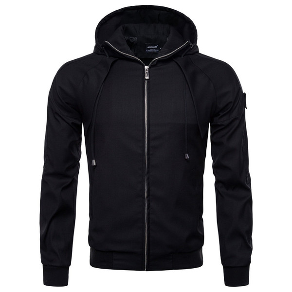 Мода мужских курток Стенд Воротник Осень Зима Chaqueta Hombre Повседневного Карман Кнопка Тепловой кожа Мужчина Streetwear куртки 2019