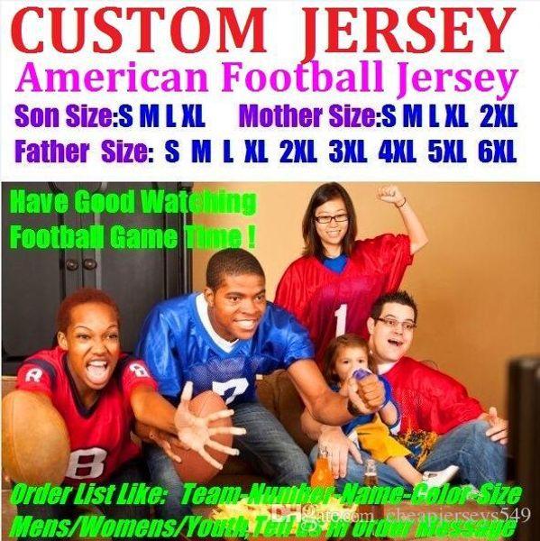 Personalizzata maglie da football americano Personalizzata Seattle Oakland college autentica mazza da baseball basket hockey a vela 4xl 6xl 8xl bambini