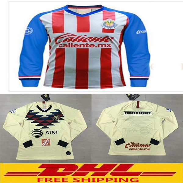 Mexico Jersey 2020 World Cup.2019 Dhl 2019 2020 America Chivas Long Sleeve Soccer Jersey 2019 2020 Mexico Jersey 18 19 Size Can Be Mixed Batch From Strive1133 13 71 Dhgate Com