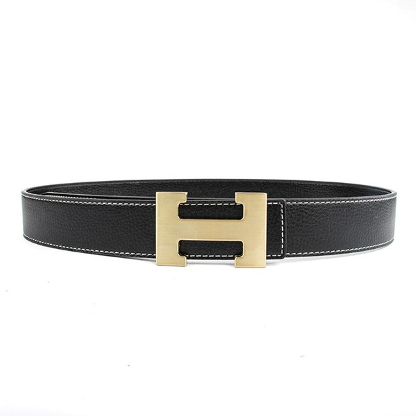Fashion H Buckle Designer Belts Men High Quality Women Punk Genuine Real Leather Male Strap for Jeans