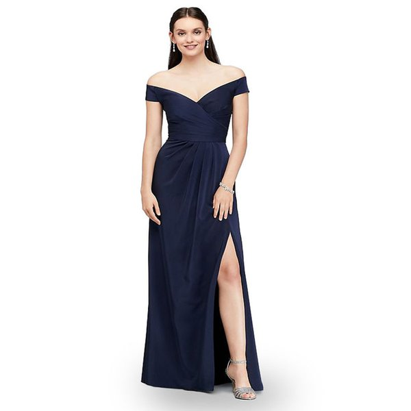 2019 Under $50 In Stock Cap Sleeves Mermaid Bridesmaid Party Dresses Plus  Size High Split Side Women Evening Prom Formal Dress 2019 From Amanda_a, ...